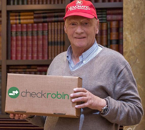 checkrobin startet mit Markenbotschafter Niki Lauda durch